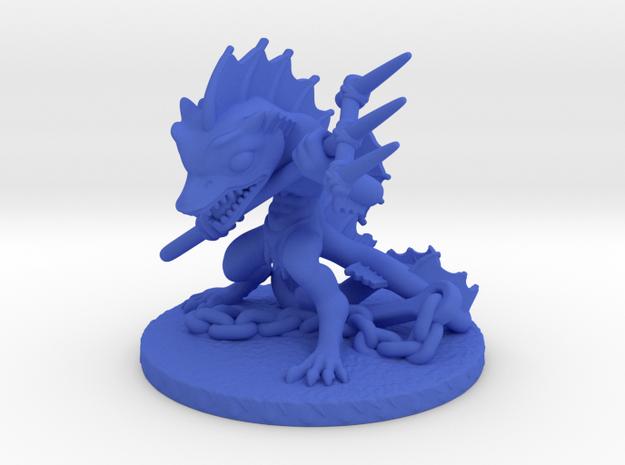 Aqua Warrior in Blue Processed Versatile Plastic