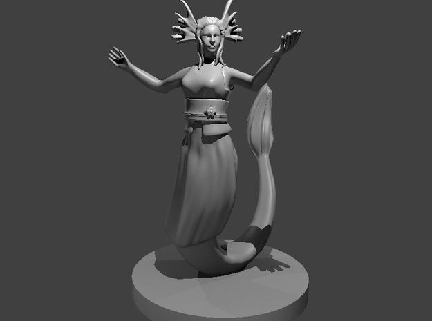 Female Merfolk Waterlancer in Smooth Fine Detail Plastic
