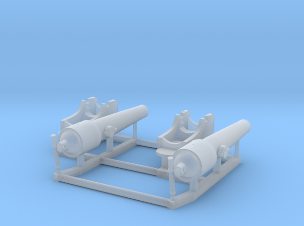 1/192 Navy Parrott 150 lb Rifled Cannon in Smooth Fine Detail Plastic