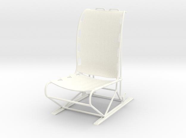 1.10 LAMA PILOT SEAT in White Processed Versatile Plastic