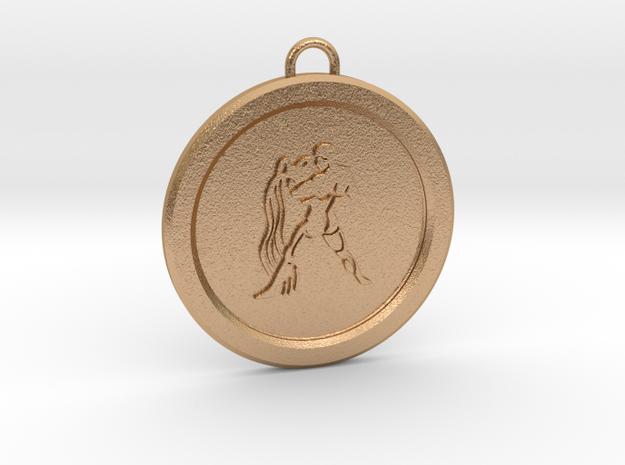 aquarius-pendant in Natural Bronze