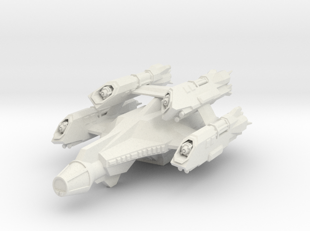 Wing Commander Galaxy in White Natural Versatile Plastic