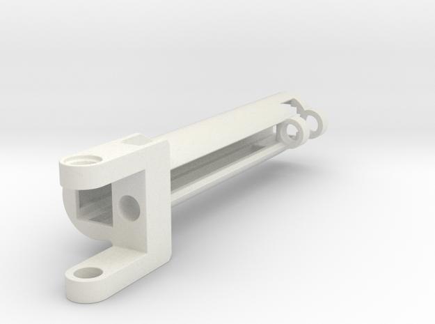 Gearrack Aktuator case v3.1 stroke 8.5 studs in White Natural Versatile Plastic