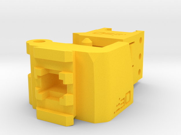 TeleScopix Folding Stock Adapter (Compact Kit) in Yellow Processed Versatile Plastic