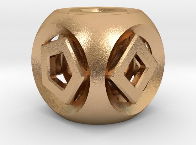 Geometric Inner Bearing Die in Natural Bronze (Interlocking Parts)