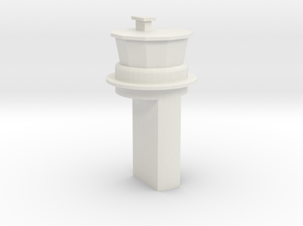 Papa SAC Base Control Tower 1:1250 Scale in White Natural Versatile Plastic