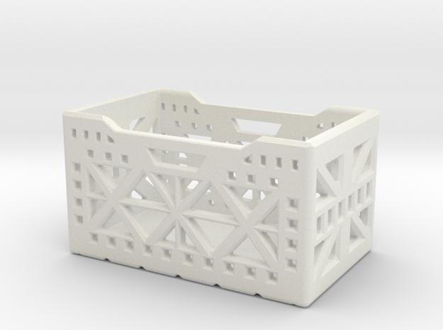 1Tenth Scale Storage Crate in White Natural Versatile Plastic