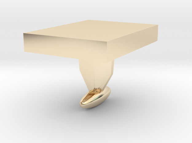 DIY Cuff Link - shape it as you like in 14k Gold Plated Brass