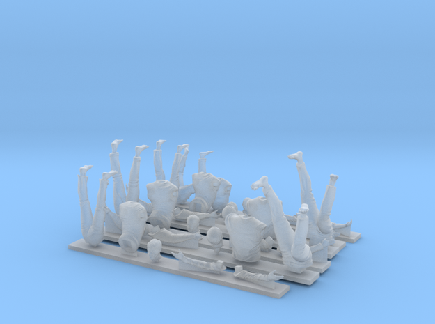 Napoleonic british seamen set 1: Aloft 1:24 in Smooth Fine Detail Plastic