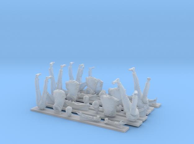 Napoleonic british seamen set 1: Aloft 1:24 in Smooth Fine Detail Plastic