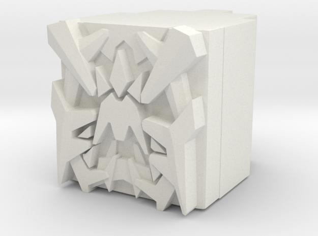 Megatronus Prime Power Core in White Natural Versatile Plastic