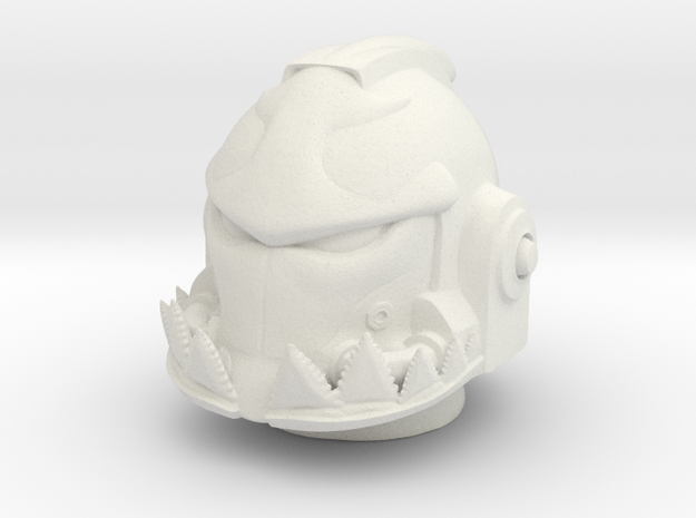 Marine_mkshark_Helmet in White Natural Versatile Plastic