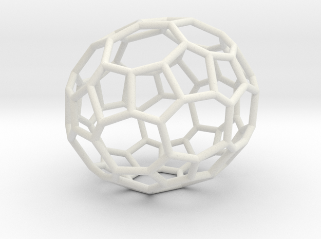 48hedron in White Natural Versatile Plastic