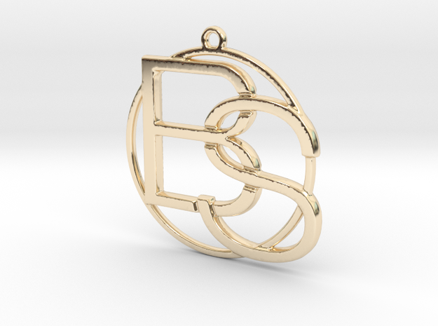 B&S Monogram in 14k Gold Plated Brass