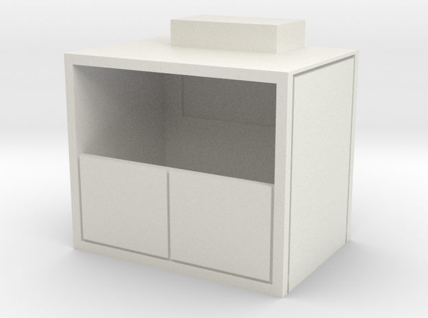 HO Scale Freight Elevator in White Natural Versatile Plastic