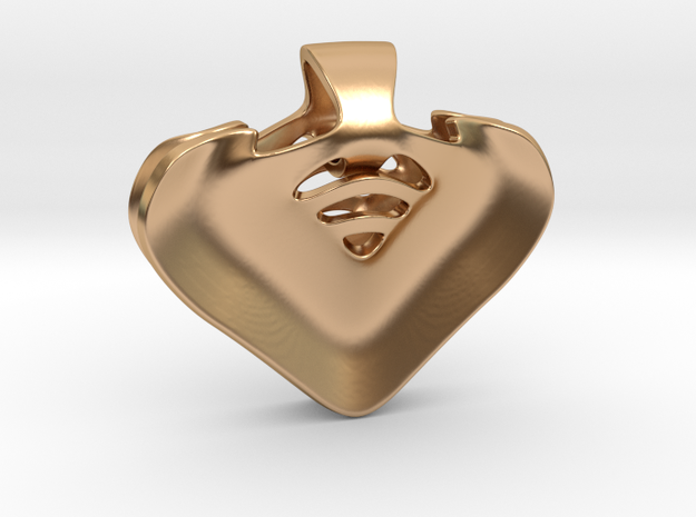 """""""Be my heart"""" Pendant in Polished Bronze"""