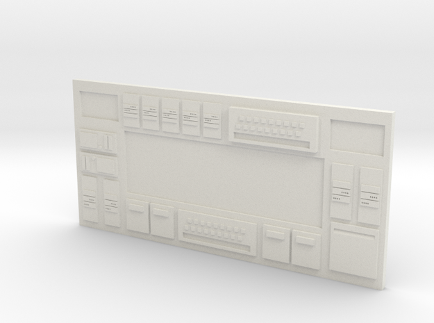 HO Scale Long Sci-Fi Wall in White Natural Versatile Plastic