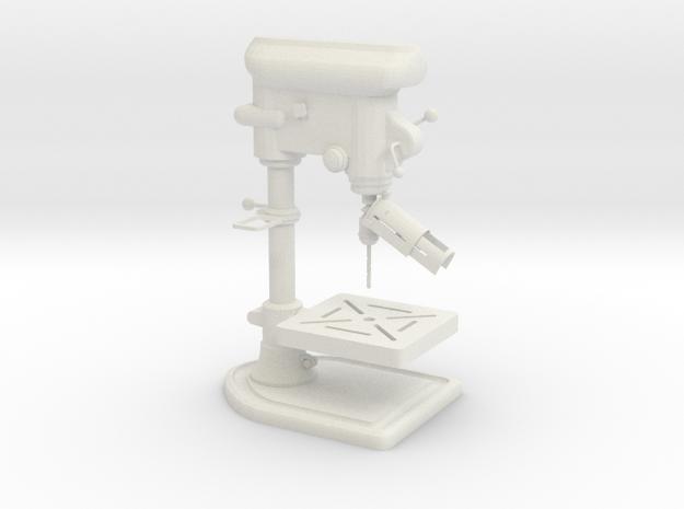 1:14 Tischstandbohrmaschine drill stand table in White Natural Versatile Plastic