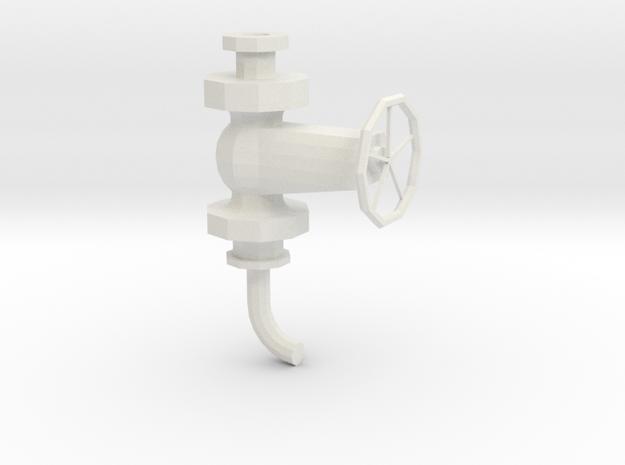 Absperrventil mit Rundbogen 1 in White Natural Versatile Plastic