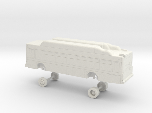 HO Scale Bus Gillig Low Floor Placer County 1500s in White Natural Versatile Plastic