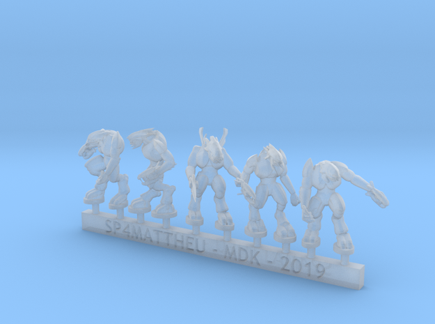 Alien warriors with melee weapons sprue in Smooth Fine Detail Plastic: 6mm