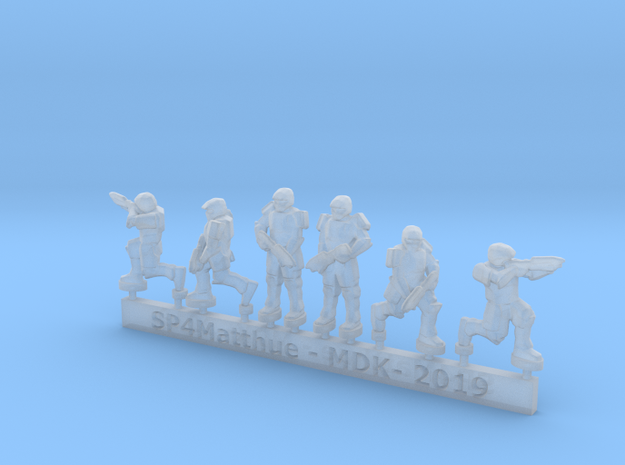 Scifi Marines Sprue A  in Smooth Fine Detail Plastic: 6mm