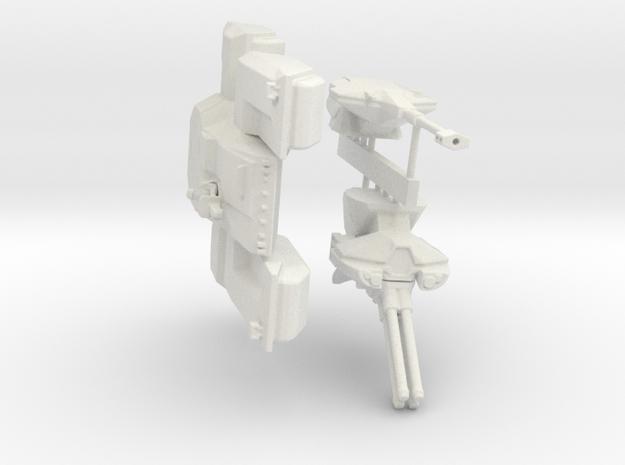 Scifi Marine Battle Tank Kit  in White Natural Versatile Plastic: 6mm