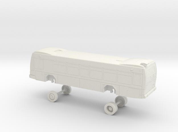 HO Scale Bus Gillig BRT Westcat 160s in White Natural Versatile Plastic