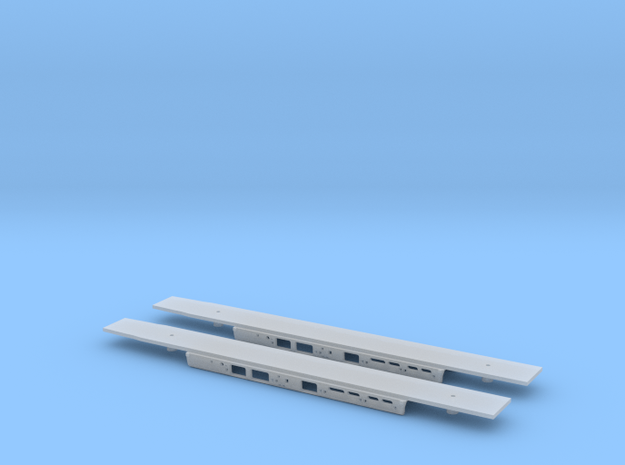Alstom Class 175 2x Chassis 1/148 in Smooth Fine Detail Plastic
