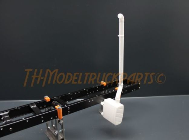 THM 00.2205 Exhaust vertical pipe Tamiya MAN in White Processed Versatile Plastic