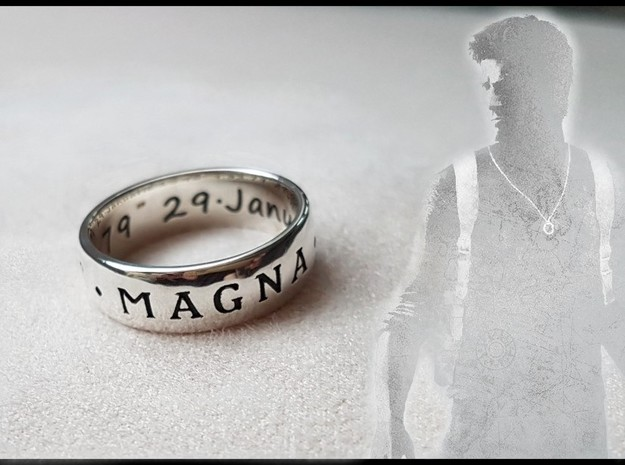 Premium Sir Francis Drake Ring (Uncharted) in Antique Silver
