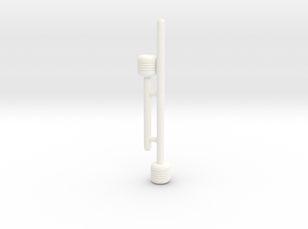 Cherry Keeper AddOn Pins - Short and Long in White Processed Versatile Plastic