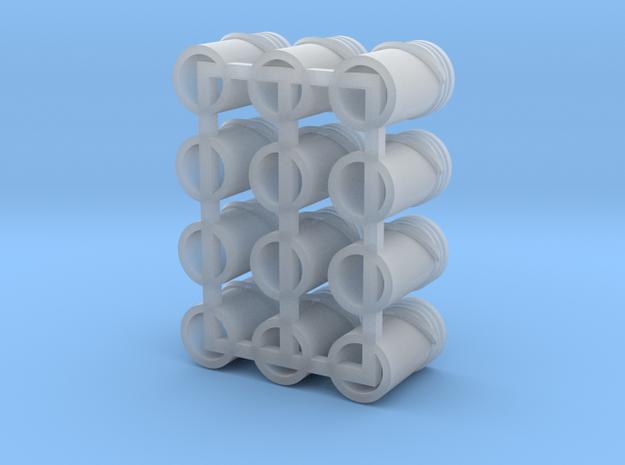 1/64 One Dozen 5 Gallon Pails in Smooth Fine Detail Plastic