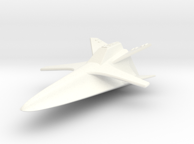 Space 1999 Re-Entry Glider - Dinky Scale in White Processed Versatile Plastic