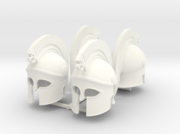 HOPLITE HELMET 20 X4  in White Processed Versatile Plastic