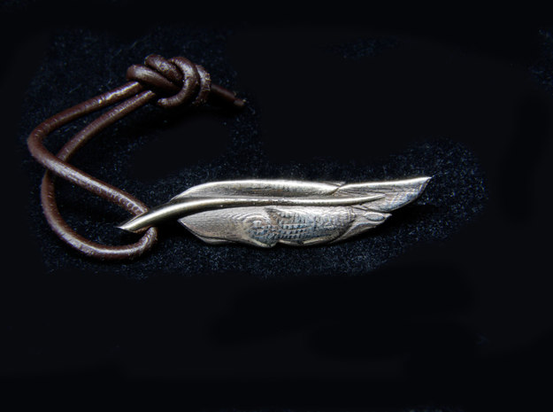 Feather in Natural Bronze