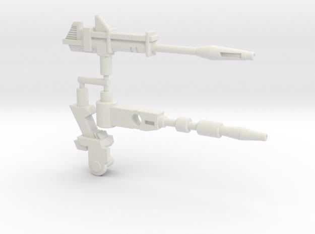 Hound Hologram Gun & MachineGun (TF: Siege) in White Natural Versatile Plastic: Large