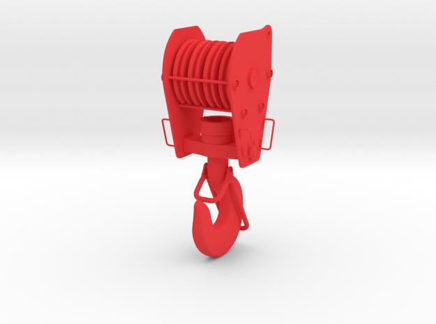 1:50 Kranhaken crane hook 50mm Diorama Ladegut in Red Processed Versatile Plastic
