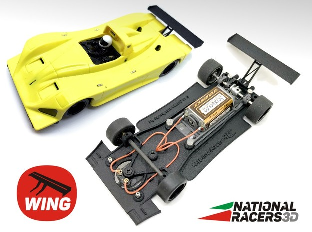 3D Chassis - Fly Racing Lola B98/10 (Inline) in Black Natural Versatile Plastic