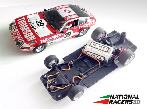 3D chassis - Fly Ferrari 365 GTB (Combo) in Black PA12