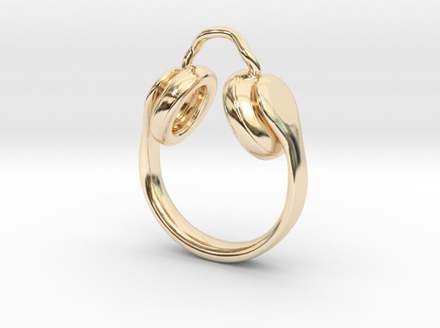 Headphones Jewel  in 14k Gold Plated Brass