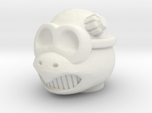 Turly Gang Sekundos Head - Multisize in White Natural Versatile Plastic: Medium