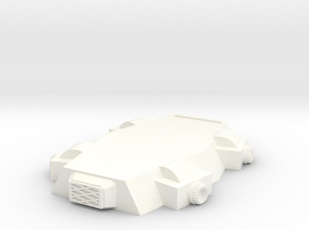 15mm SciFi Terrain Base in White Processed Versatile Plastic