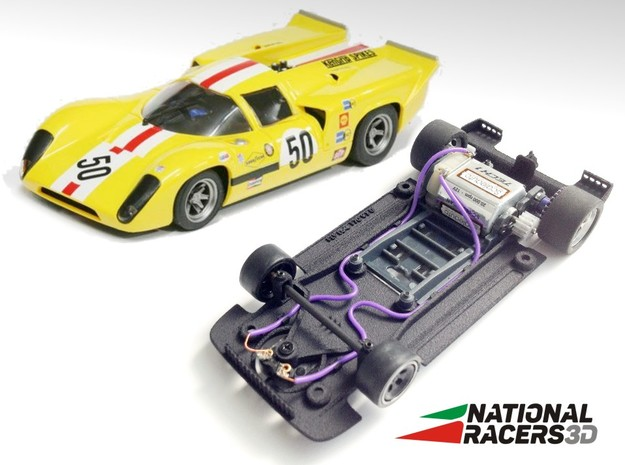 3D Chassis - Fly Lola T70 (SW) in Black PA12