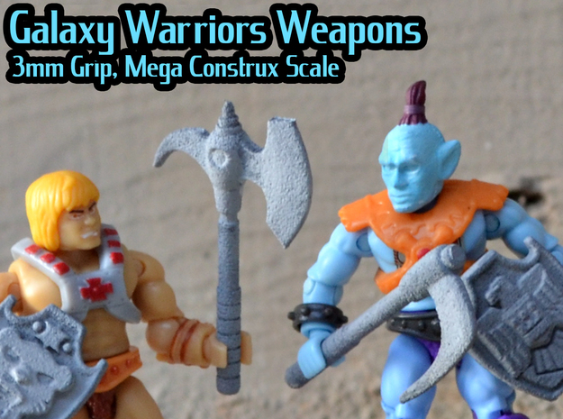 Galaxy Warriors Weapons (Mega Construx/Lego)  in White Natural Versatile Plastic: Medium