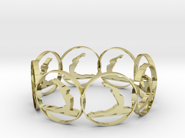 S in 18K Yellow Gold