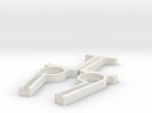 Apple Wireless Keyboard to Cinema Display hook in White Natural Versatile Plastic