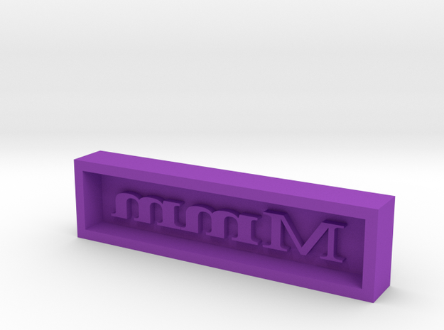 Mmmm - Candy Mold in Purple Processed Versatile Plastic