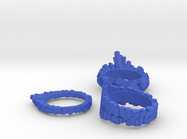 WReKT Pop-Rocks Rings (140303) in Blue Processed Versatile Plastic