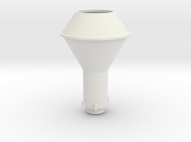 1/20.3 C-19 Diamond Smoke Stack in White Natural Versatile Plastic